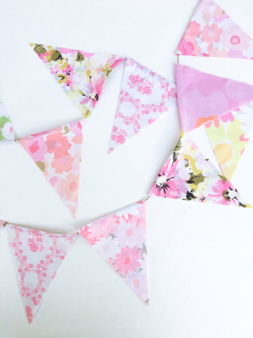 Pink Fabric Flag Bunting