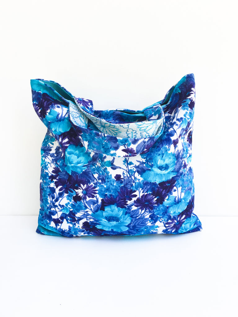 Small Blue Tote Bag