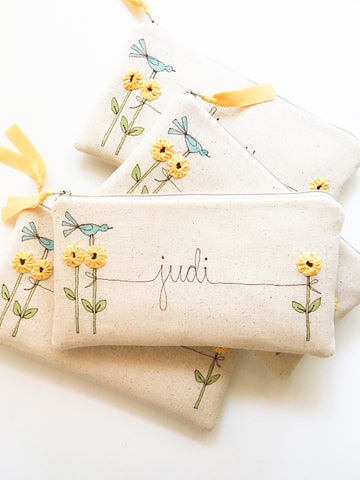 Bridesmaid Sunflower Clutch