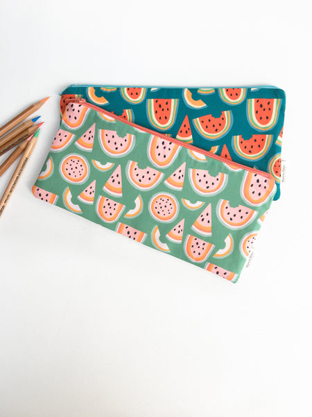 Watermelon Zipper Pouches