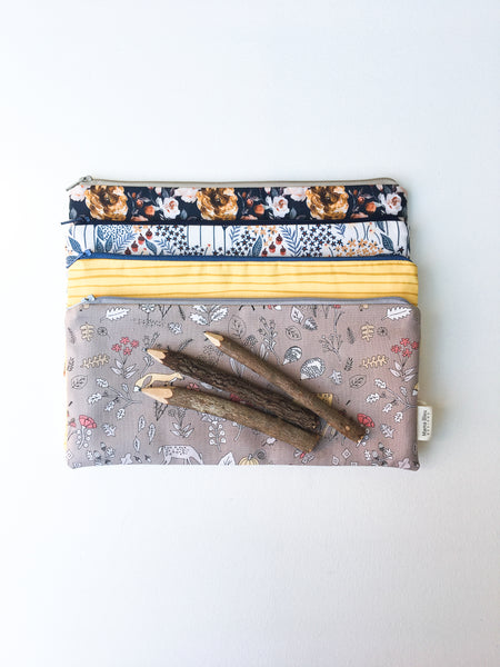 Woodland Zipper Pouches