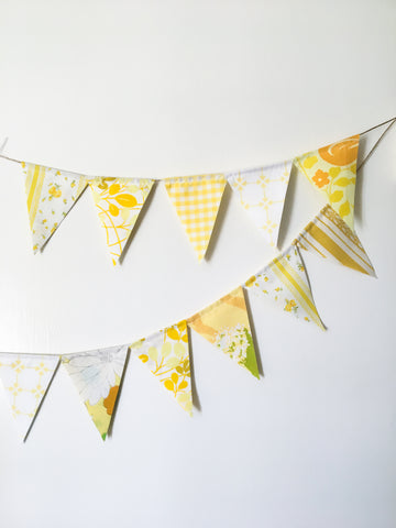 Yellow Fabric Flag Bunting
