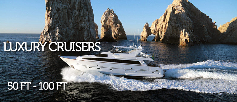 Luxury Cruisers 50 ft to 120 ft