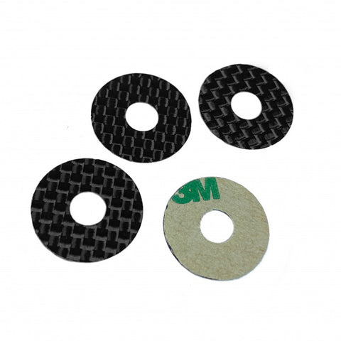 1Up Racing Carbon Fiber Protective Body Washer, 6mm Post, 10401