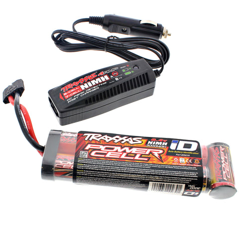 Traxxas 1/10 Slash 2WD 3000 mAh NiMH 8.4V iD Battery & 4 Amp Charger