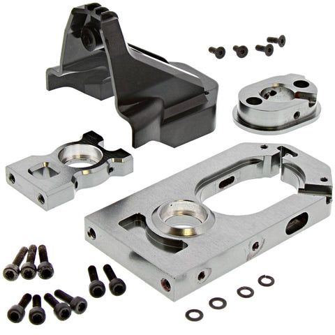 Thunder Tiger 1/8 K-Rock MT4 G5 Motor & Center Diff Mounts, Spur Gear Cover