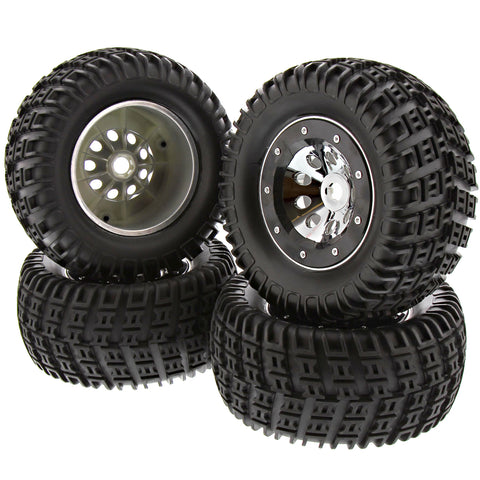 Thunder Tiger 1/8 K-Rock MT4 G5 Tires, Wheels & Beadlocks, 17mm
