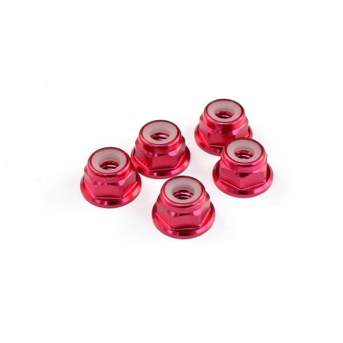 ROC510004 510004 M4 Aluminum Locknut, Red