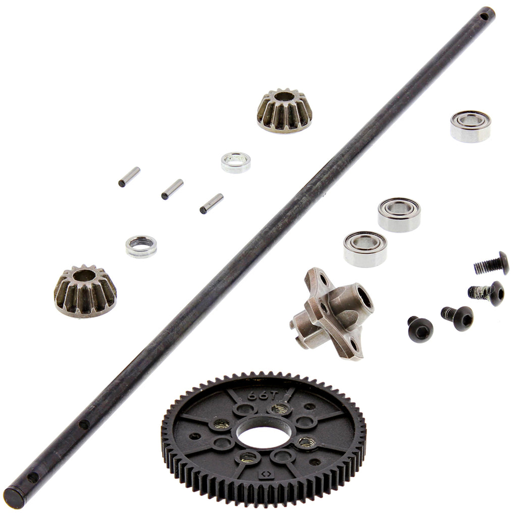 RS4s DS Center Flux 114350 Center Drive Shaft & 66T Spur Gear