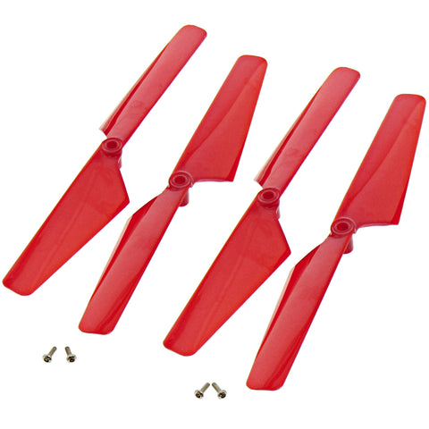 Traxxas LaTrax Alias Quadcopter 4 Red Rotor Blades & Screws