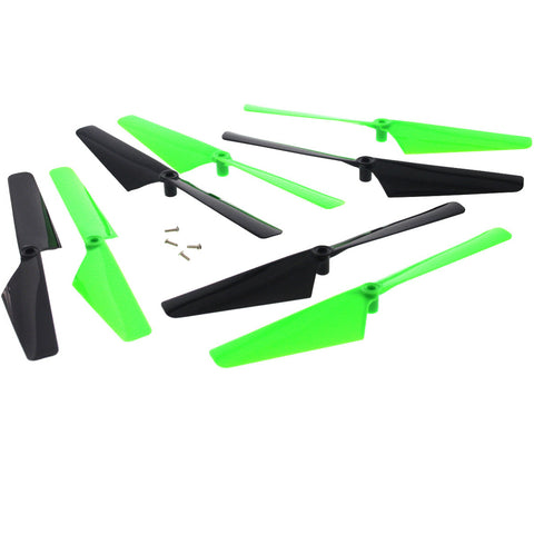 Traxxas LaTrax Alias Quadcopter 4 Green & 4 Black Rotor Blades & Screws