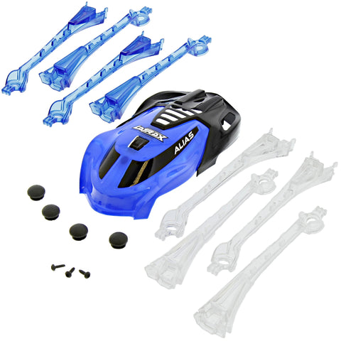 Traxxas LaTrax Alias Quadcopter Blue & Black Canopy & LED Lens with Feet & Screws