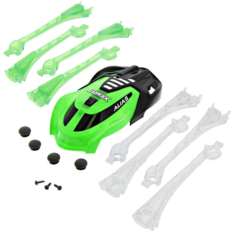 Traxxas LaTrax Alias Quadcopter Green & Black Canopy & LED Lens with Feet & Screws
