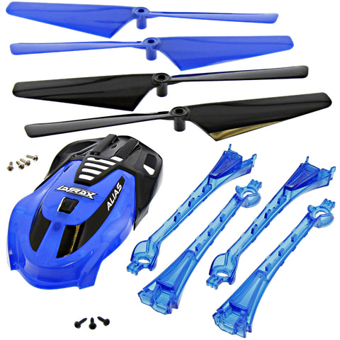 Traxxas LaTrax Alias Quadcopter Blue Conversion Kit w/ Canopy, 4 Blades & Lenses