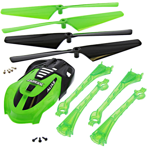 Traxxas LaTrax Alias Quadcopter Green Conversion Kit w/Canopy & 4 Blades & Lenses