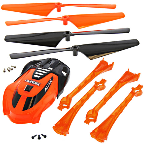 Traxxas LaTrax Alias Quadcopter Orange Conversion Kit w/ Canopy, 4 Blades & Lenses