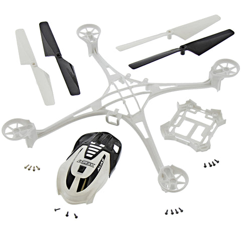 Traxxas LaTrax Alias Quadcopter White Conversion Kit w/ Canopy, Frames, 4 Blades