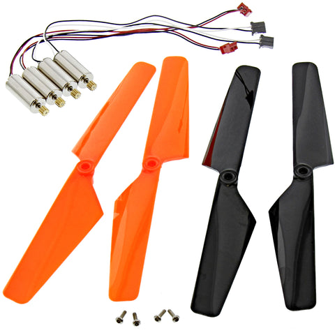 Traxxas LaTrax Alias Quadcopter 4 High Output Motors & Orange & Black Blades
