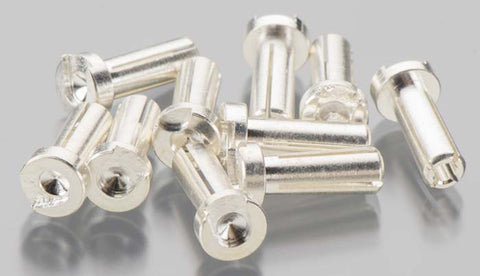 Team Associated Low-Profile Bullet Connectors, 4mmx14mm, 644