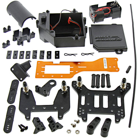 HPI Racing 1/8 Trophy Buggy 3.5 Receiver Box Kit, Shock Towers, & Chassis Plate