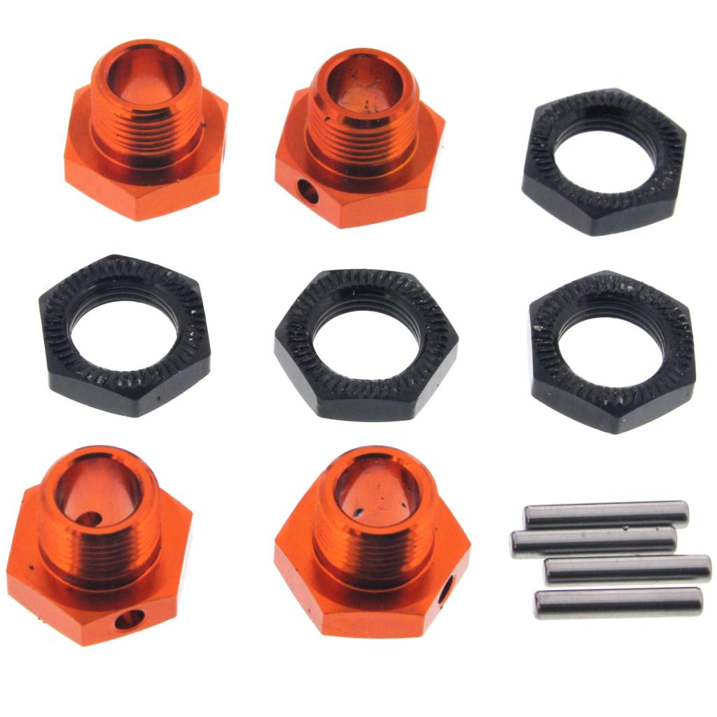 Buggy3.5 Wheel Nuts 107012 17mm Aluminum Wheel Hexes, Hex Nuts & Shaft Pins