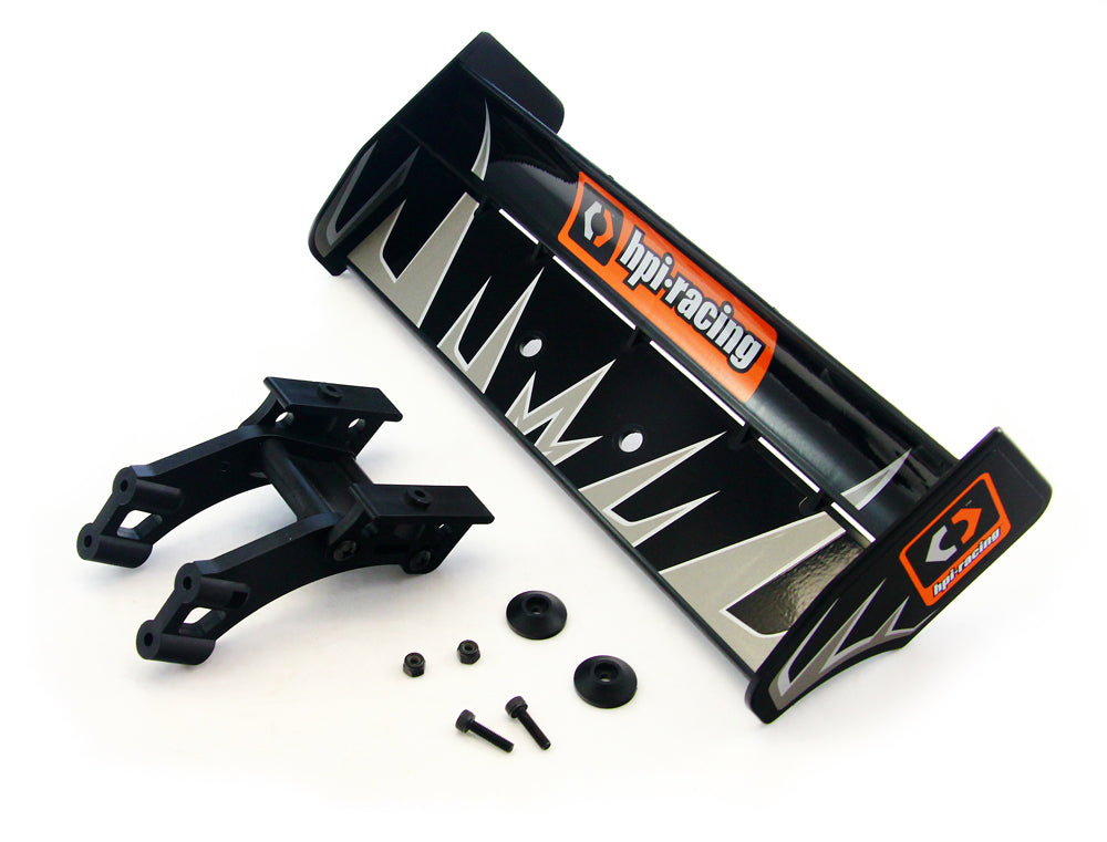 Buggy3.5 Wing 107012 Black Deck Wing, Decals & Brace Mount