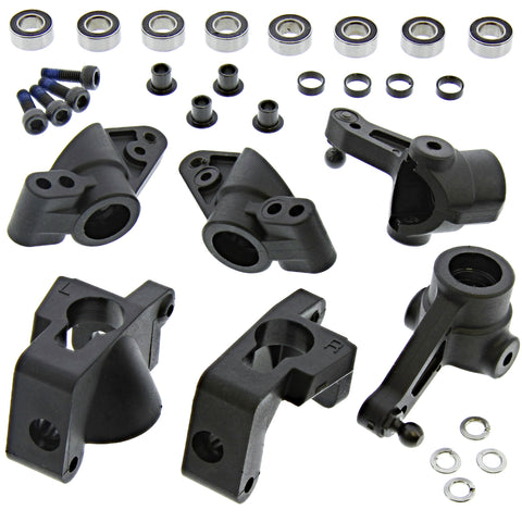 HPI Racing 1/10 Bullet MT / ST Front & Rear Uprights, Hub Carriers & Knuckles w/Bearings