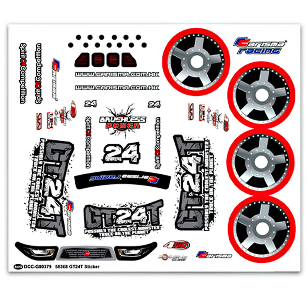 CIS15716 CIS15716 1/24 GT24T Monster Truck Decal Sheet
