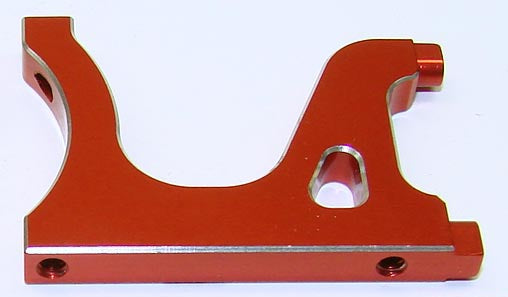 CLN33521 CLN33521 LCG Left Plate, 7075 Aluminum, Red
