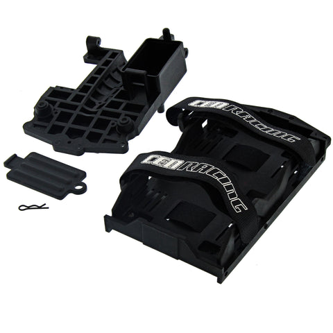 CEN 1/7 Colossus XT Battery Tray & Straps, Radio Tray