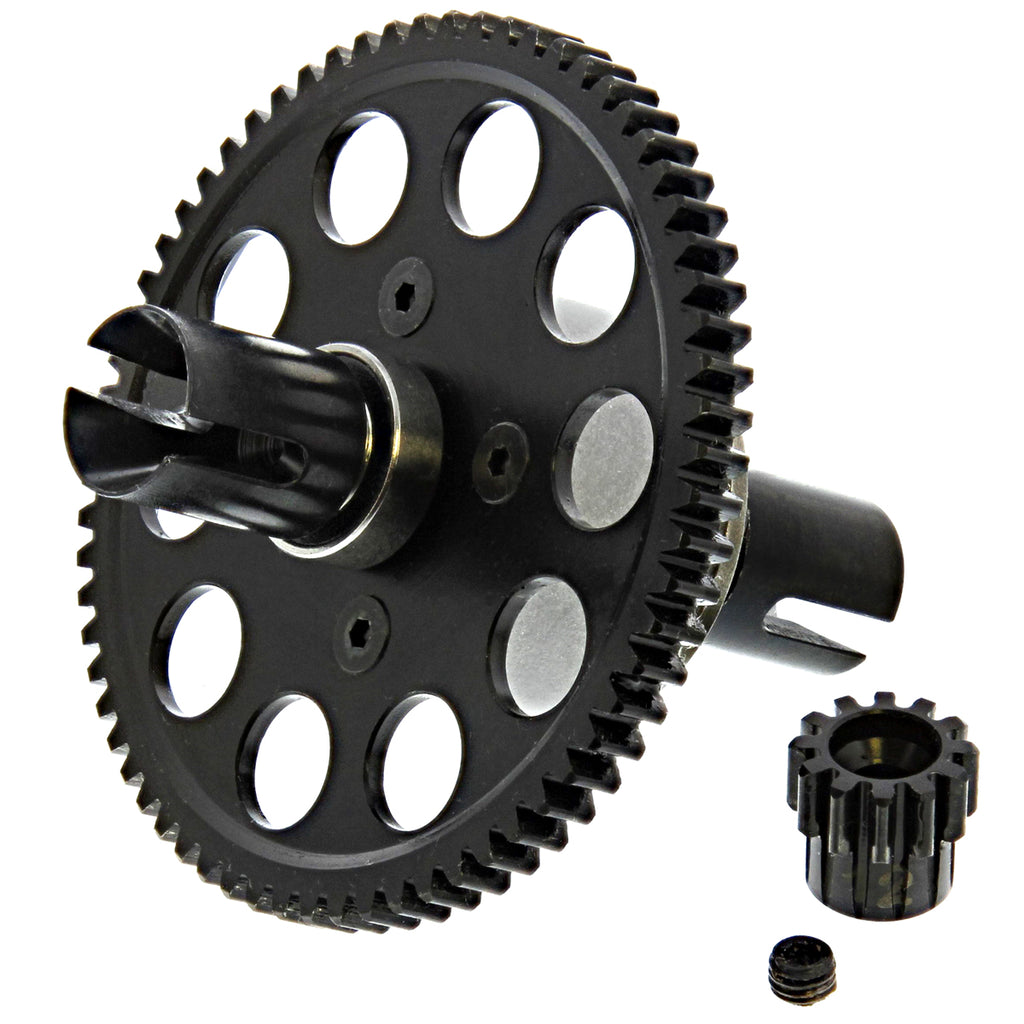 Colossus Diff Center CEG9519 66T Spur, 12T Pinion Gear, Center Diff & Outdrives