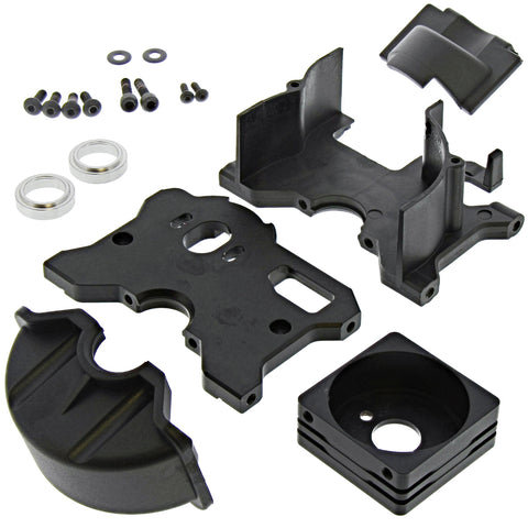 CEN 1/7 Colossus XT Motor Plate, Mount & Transmission Case