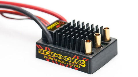 Castle Creations Sidewinder 3 12V ESC - Waterproof, 010-0115-00