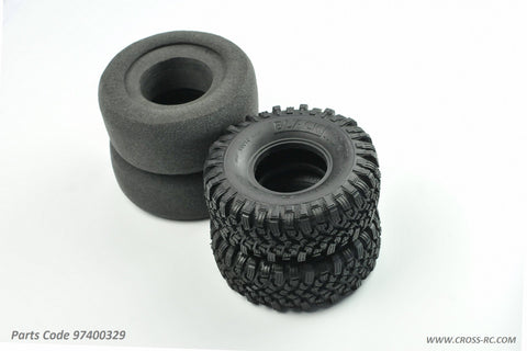 Cross RC Blackrock Tires, Soft, 2-Stage Inserts, 97400329