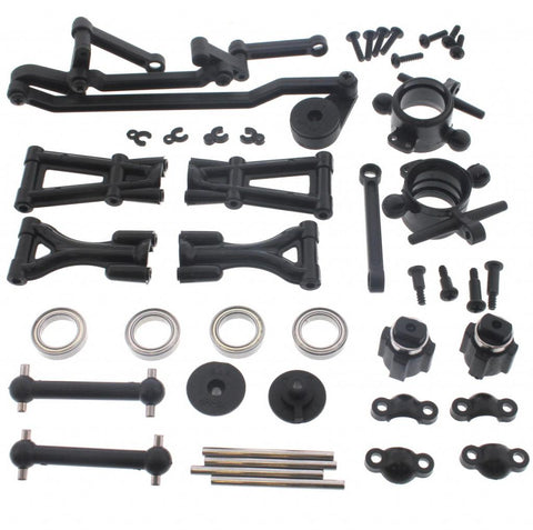 HPI Racing 1/10 E10 Front Arms, Linkage, Drive Shafts, Carriers & Bearings