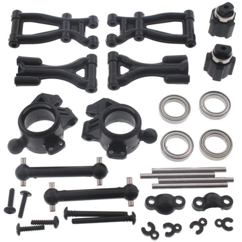 HPI Racing 1/10 E10 Rear Suspension & Arms, Drive Shafts, Hub Carriers & Bearings