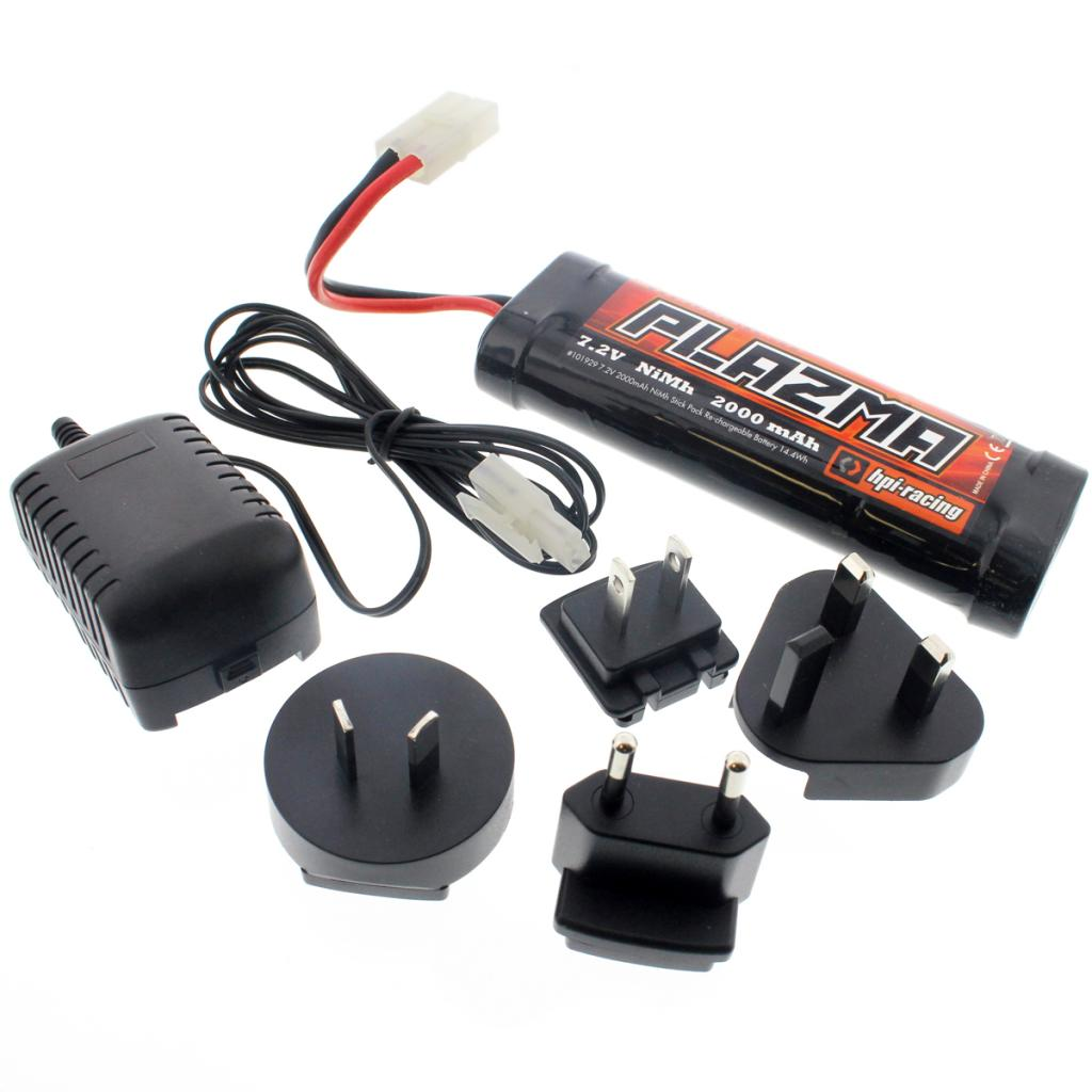 E10 Battery & Charg 109494 Plazma 6 Cell 7.2V 2000mAh NiMH Battery & Charger
