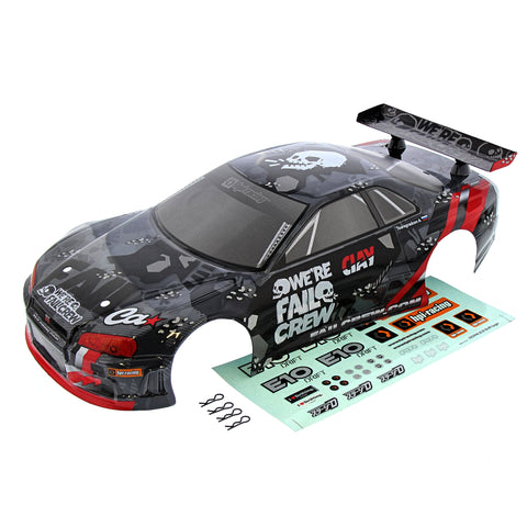 HPI Racing 1/10 E10 Fail Crew Nissan Skyline Touring Car Body & Decals