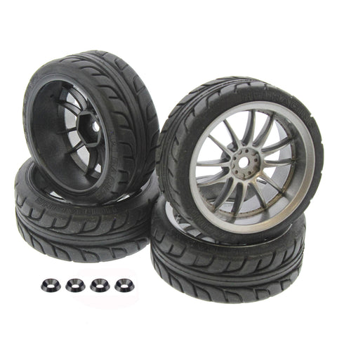 HPI Racing 1/10 E10 T-Grip Tires & Work XSA 26mm Wheels