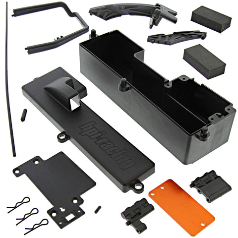 HPI Racing 1/10 Bullet MT / ST Flux Battery & Receiver Box/Radio Tray & Chassis Braces