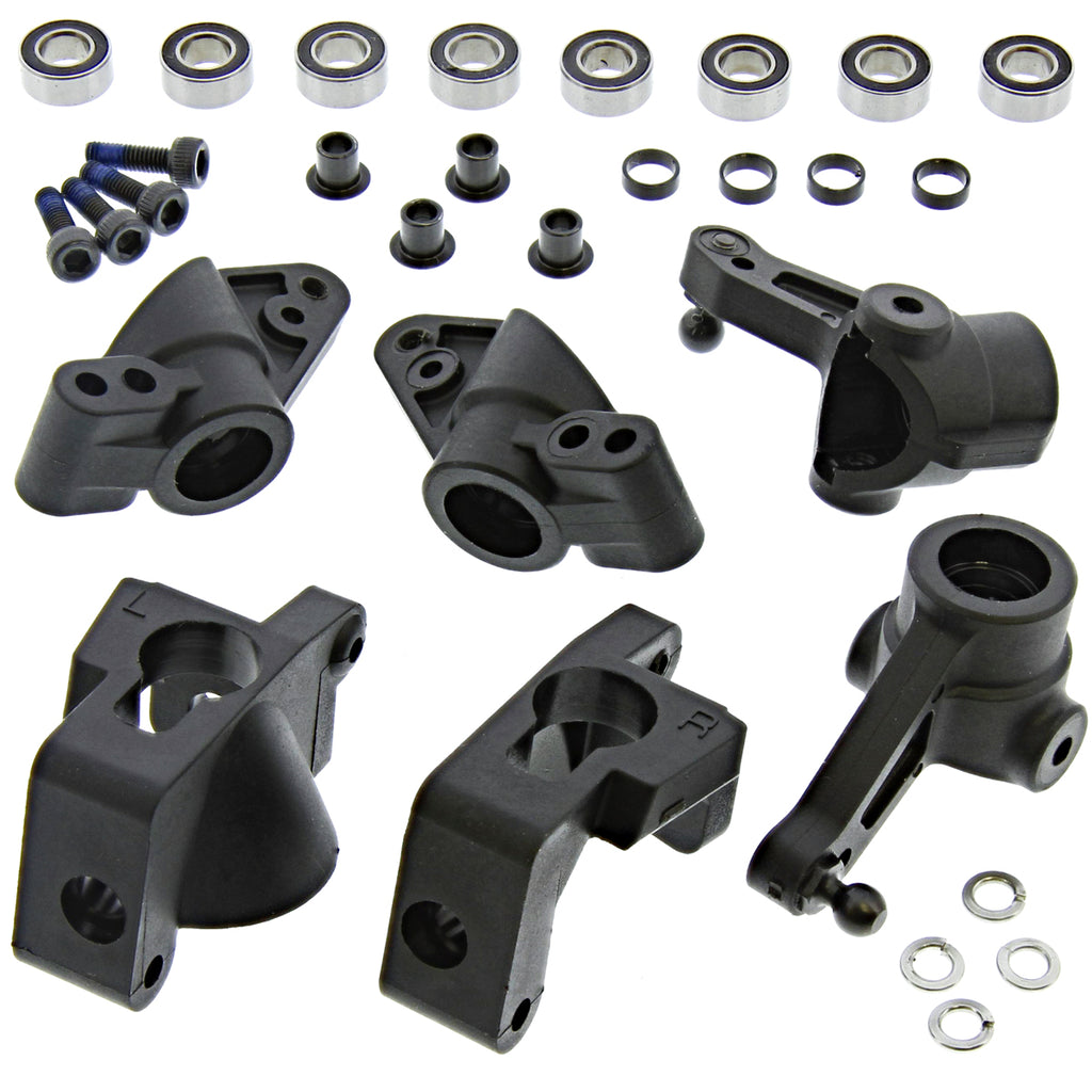 eBullet Carriers 110662 Front & Rear Uprights, Hub Carriers & Knuckles w/Bearings