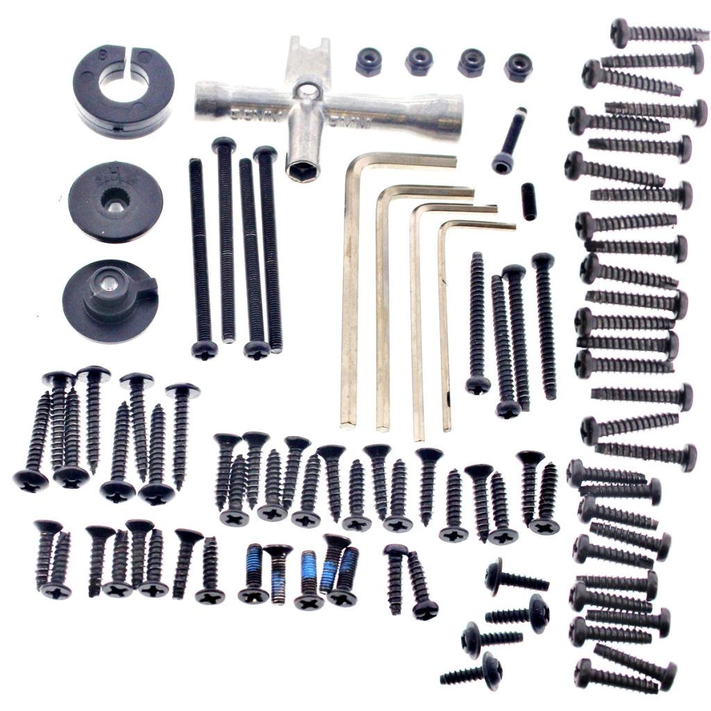eBullet Screws 107008 90+ Piece Screw & Tool Kit with Allen & Cross Wrenches