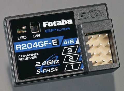 Futaba R204GF-E 2.4Ghz 4-Channel Micro Receiver, 01102202-3