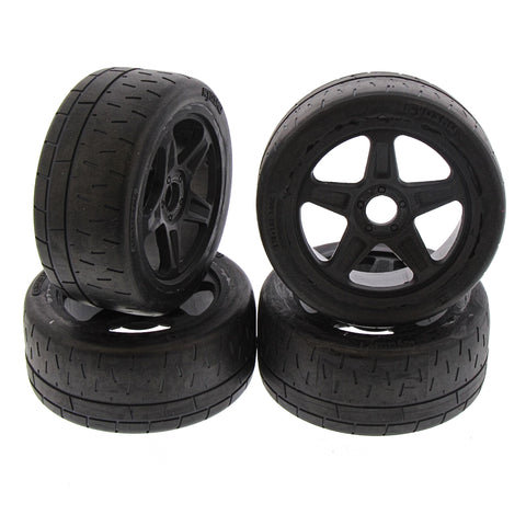 Kyosho 1/8 Inferno GT2 RS Black 5-Spoke Tires & Wheels