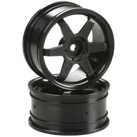 HPI Racing 2 TE37 Wheels - 26mm Black 0mm Offset, 3836