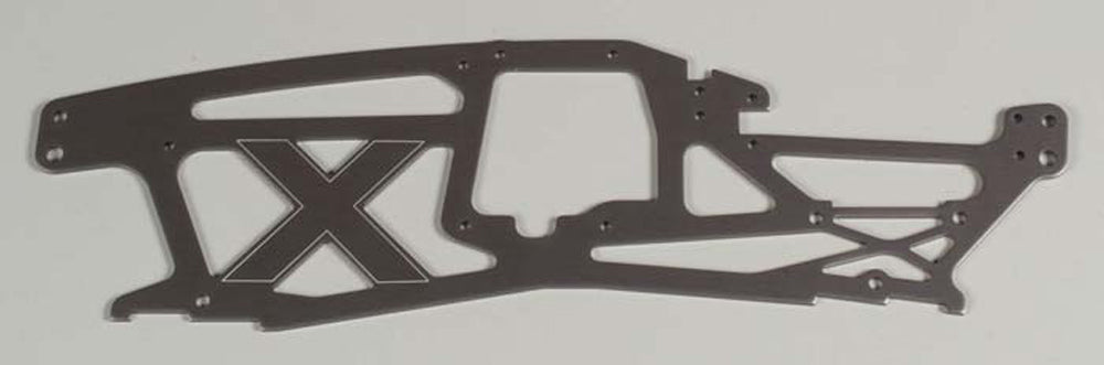 HPI73961 73961 Main Left Chassis - 2.5mm Aluminum Gray