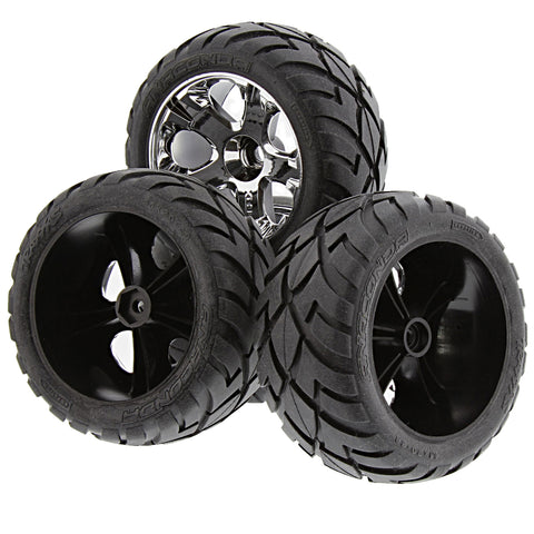 Traxxas 1/10 Jato Anaconda Tires & 12mm Hex All Star Wheels