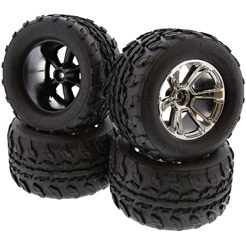 HPI Racing 1/10 Jumpshot V2 Jump T2.8 Tires & 6-Shot Chrome Wheels