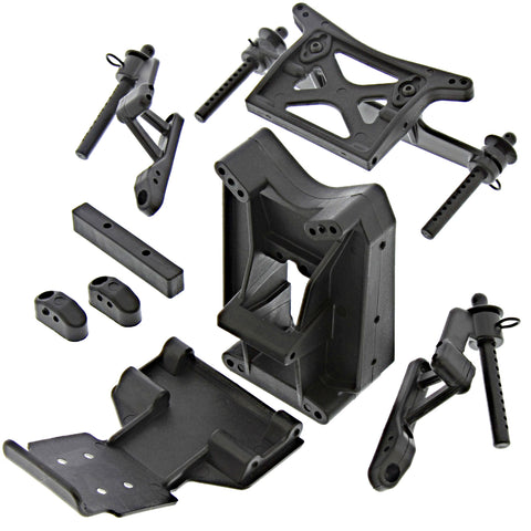 HPI Racing 1/10 Jumpshot Front & Rear Shock Towers, Body Posts & Skid Plate