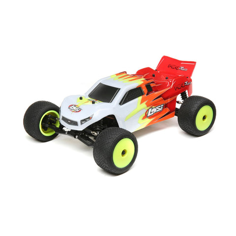Losi Mini-T 2.0 Brushed 1/18 2WD Truck RTR, Red/White, LOS01015T1